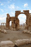 The arch of Palmyra. Palmyra, in the middle of the Syrian Desert is one of the most beautiful and magnificent of the Syrian historic sites. This Arab commercial Stock Image