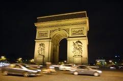 arch Paris triumfalny Zdjęcia Royalty Free