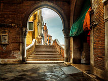 Arch passage in Venice Stock Image