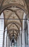 Arch of passage in vienna. Arch with decorative ceiling of vienna passage Royalty Free Stock Photo