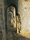 Arch path in Temple of Jupiter Anxur Royalty Free Stock Photos