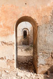 Arch pattern. In an old building destroyed during the spanish civil war in Belchite, Zaragoza Stock Image