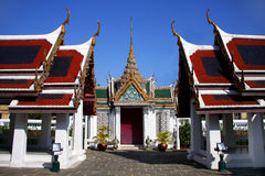 Arch and pavilion. In Thai style at the royal palace, Bangkok, Thailand stock photography