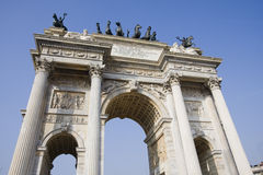 Arch of peace, milan Stock Photos