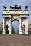 Arch of Peace, Milan Stock Photography
