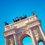 Arch of Peace , Milan- Italy Stock Image