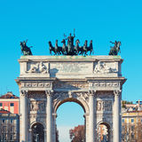 Arch of Peace , Milan- Italy Stock Photos