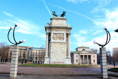 Arch of Peace, Milan Royalty Free Stock Photography