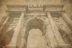 Arch of peace Milan Italy old postcard Royalty Free Stock Photography