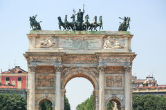 The Arch of Peace in Milan royalty free stock image