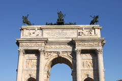 Arch of Peace in Milan Stock Image