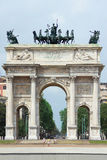 Arch of Peace in Milan Stock Photo