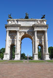 Arch of Peace in Sempione Park, Milan, Lombardy Stock Images