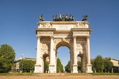 Arch of Peace in Sempione Park, Milan, Lombardy, Italy, 13-05-20 Stock Photos