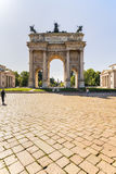 Arch of Peace in Sempione Park, Milan, Lombardy, Italy, 13-05-20 Stock Image