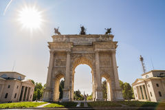 Arch of Peace in Sempione Park, Milan, Lombardy, Italy, 13-05-20 Royalty Free Stock Image