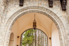Arch of Pelisor Castle from Sinaia, Romania Stock Photos