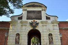 Arch of Peters' Gates in Peter and Paul Fortress Royalty Free Stock Image