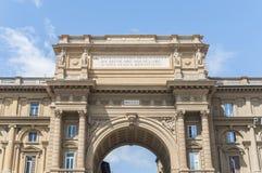 Arch at Piazza della Repubblica in Florence, Italy Stock Photo