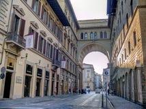 The arch of Piazza della Repubblica, Florence, Italy Stock Photo