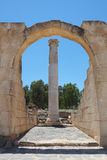 Arch and pillar of the Roman amphitheater Royalty Free Stock Image