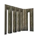 Arch pillars - 3D render Stock Photo