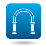 Arch with pillars icon, simple style Royalty Free Stock Images