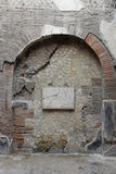 Arch and Plaque to Augustus, Herculaneum Archaeological Site, Campania, Italy Stock Image
