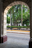 Arch and Plaza de Bolivar Royalty Free Stock Images