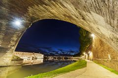 Arch of Pont-Neuf in Toulouse Royalty Free Stock Photography