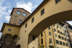 Arch at the Ponte Vecchio - Florence - Italy Stock Photo