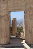 Arch of Propylaea of the Athenian Acropolis Royalty Free Stock Image