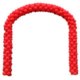 Arch from the red inflatable spheres Royalty Free Stock Photography