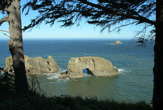 Arch Rock. North of Brookings, Oregon Royalty Free Stock Photo