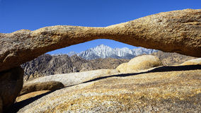 Arch Rock in Alabama Hills Stock Images
