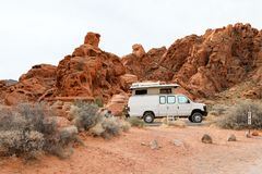Arch Rock campground. In the Nevada Royalty Free Stock Images