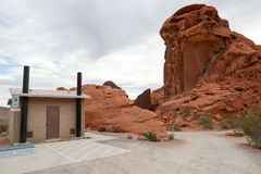 Arch Rock campground. In the Nevada Stock Image