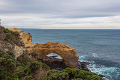 The Arch rock formation on Great Ocean Road Stock Images
