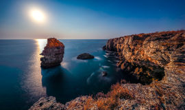 The Arch - rock formation near Tyulenovo. Long exposure shot Royalty Free Stock Images