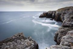 The Arch - rock formation near Tyulenovo village, Bulgaria. Long exposure shot Royalty Free Stock Photography