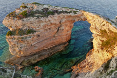 Arch rock on the Greek island of Paxos Royalty Free Stock Photography