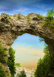 Arch Rock Natural Stone Formation Stock Images