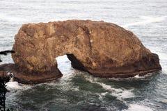 Arch Rock Oregon. Arch Rock formation, coastal attraction along Oregon's 12-mile Samuel H. Boardman State Scenic Corridor Royalty Free Stock Photo