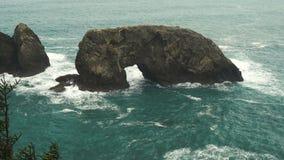 Arch Rock Pacific Ocean Oregon Coast United States stock footage