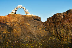 Arch on the rock Royalty Free Stock Photography