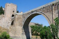 Arch of the Roman bridge Stock Images