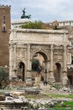Arch in Roman Forum royalty free stock photos