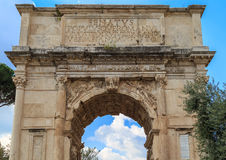 Arch at the Roman Forum Stock Photography