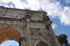 Arch within the Roman Forum Royalty Free Stock Photography