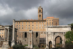 Arch and Roman Forum Royalty Free Stock Photos